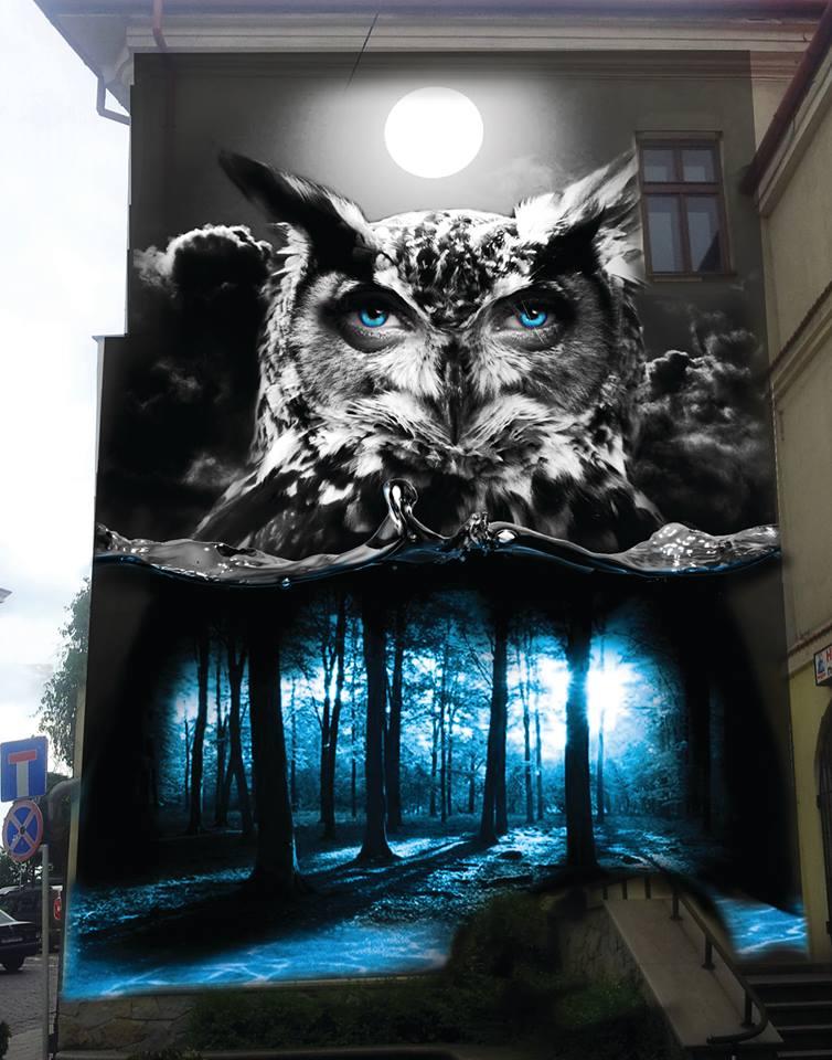 W bielsku powstan nowe murale obbraz miasta l skie for Mural na tamie w solinie