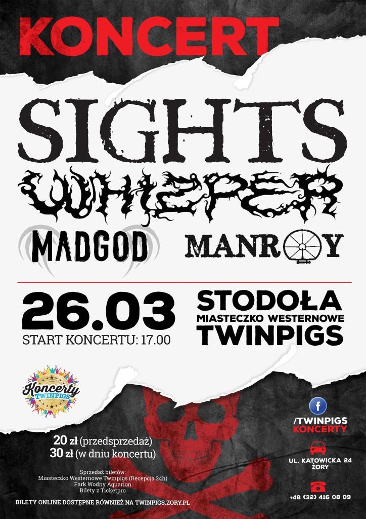 Twinpigs koncert sights metalcore