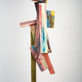 bez tytułu, 2011, olej, płótno, sklejka, 120 × 34 cm